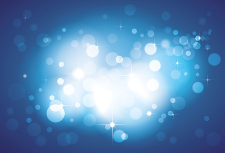 defocussed: Abstract white lights defocussed and bokeh on blue background with shine