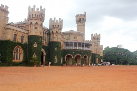Photo of Majestic and iconic Bangalore Royal Palace located in the heart of capital city of karnataka near mekhri circle and is a landmark monument run by wodeyars of mysore royal family Stock Photo - 14242332