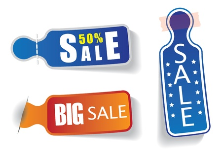 Set of colorful labels with sale and discount messages Stock Vector - 14507282