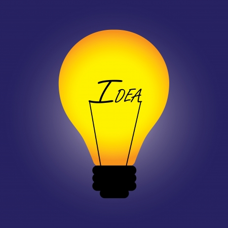 replaced: Conceptual illustration of bulb with filament replaced by idea word. The graphic can also represent problem solving, innovation, creative solution, etc.