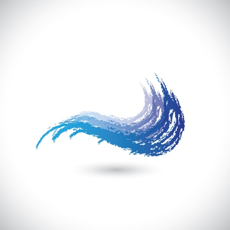 watery: Vector illustration of abstract water wave or watery splash