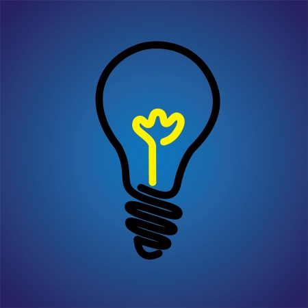 Colorful incandescent light bulb icon symbol- vector graphic. The illustration can represent an idea or solution or human creativity and inventiveness Stock Vector - 19376993