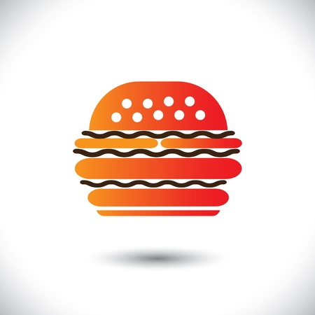 burger illustration Stock Vector - 19694852