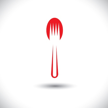 abstract spoon and fork graphic illustration Illustration
