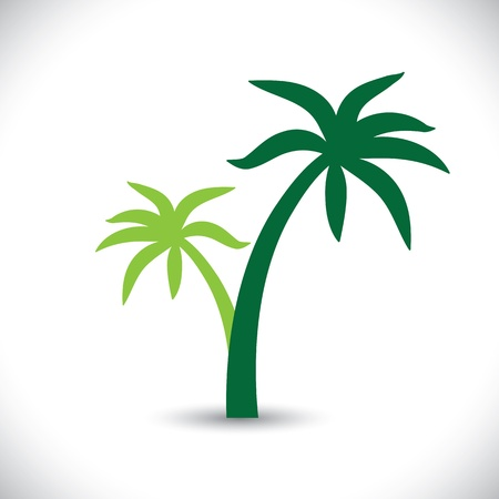 Coconut palm tree illustration Stock Vector - 19695066
