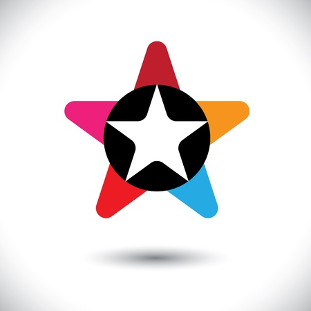 Abstract trendy colorful star illustration Stock Vector - 19695071