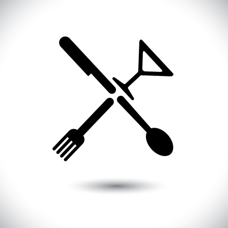 knife and fork: spoon,knife,fork & glass illustration
