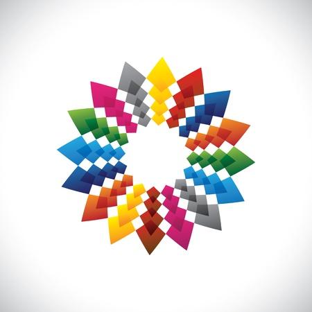 Abstract, colorful & brilliant creative design star illustration Stock Vector - 19694971