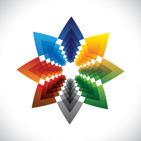 Abstract colorful star creative design illustration Stock Vector - 19694972