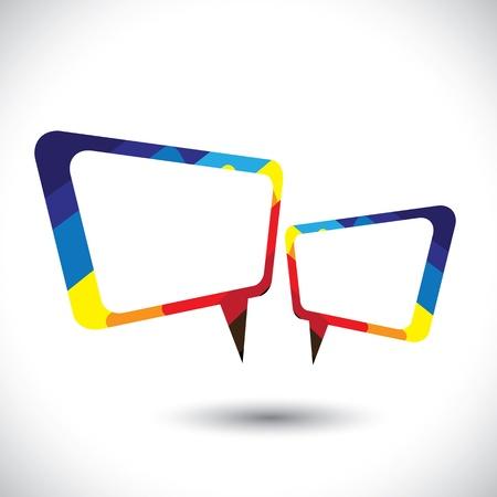 converse: Bunte chat icon oder Sprechblase Illustration