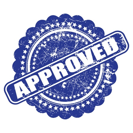 endorsed: Seal of approval(quality check) illustration