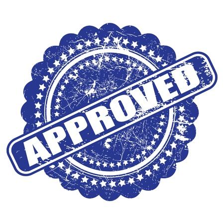 approbation: Sigillo di approvazione (controllo di qualit�) illustrazione