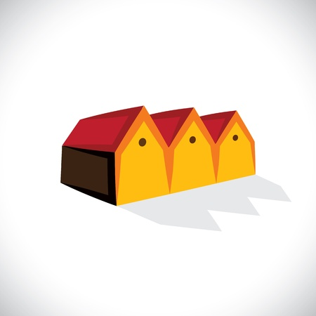 House(home) or store(shed) symbol for real estate-  graphic. The illustration is also a icon for buying & selling storehouse and residential property, storage office space, etc Stock Vector - 19871277