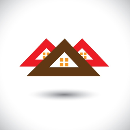 House(home) icon(symbol) for real-estate industry-  graphic. The illustration is also a icon for buying & selling property, residential accomodations, offices, etc Stock Vector - 19871238