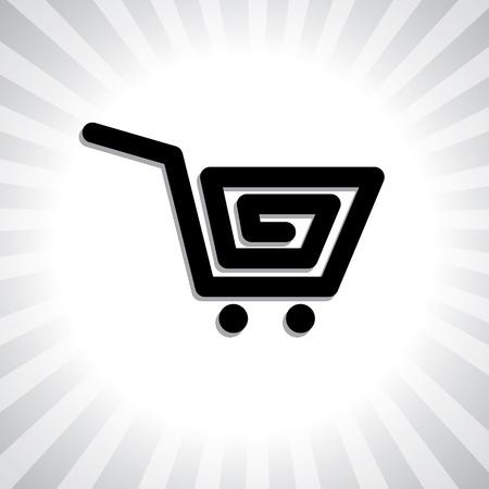 shoppingcart: Concept graphic- creative online shopping cart symbol(icon).