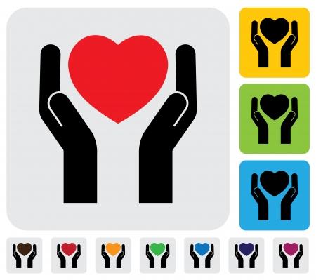 insuficiencia cardiaca: protecci�n de fallo de amor (coraz�n roto) concepto gr�fico. Esta ilustraci�n representa concepto de protecci�n de la salud humana, la protecci�n de coraz�n de la fractura, la prevenci�n de la insuficiencia card�aca Vectores