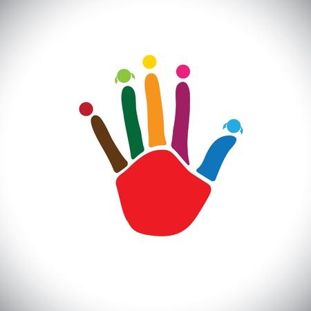 Les membres de la famille ou les enfants (les enfants) à jouer concept graphique vecteur. Banque d'images - 21920672