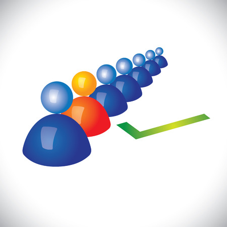choose person: concept of selecting or hiring right staff, worker or employee.