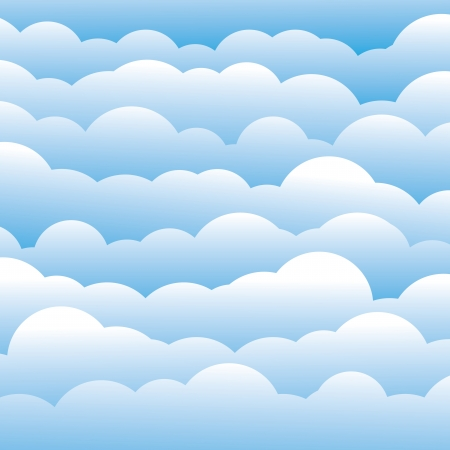 abstract blue 3d fluffy clouds background (backdrop)  Illustration