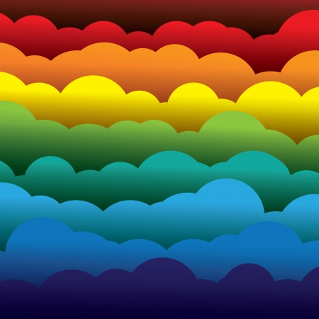 fluffy clouds: abstract colorful 3d paper clouds background (backdrop)
