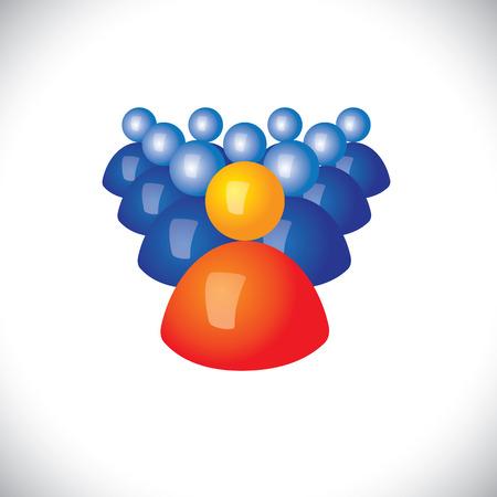comandante: icone colorate 3d o segni di esercito di soldati e comandanti