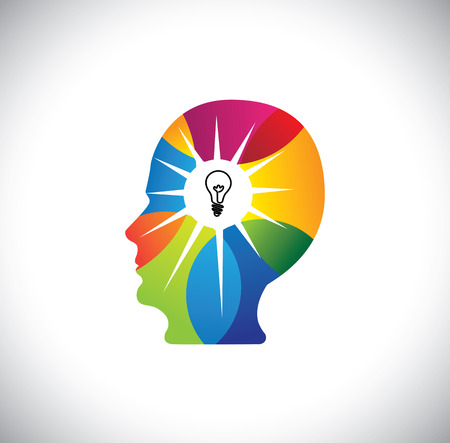 talented person with genius mind full of ideas & solutions. This vector also represents talented employee or executive, best human resource, brilliant scientist, innovative man, ingenious business man