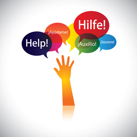 requesting: concept of a child or person in distress requesting help, support. This abstract vector graphic also represents person seeking love, care, aid, soccour, etc