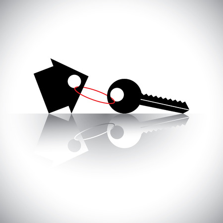 key in chain: The graphic also represents property investment, asset protection, gifting property, real-estate business deals, etc