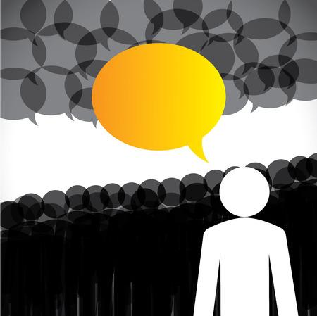 followers: concetto di leadership vettore - il leader e seguaci di discussione. Questa grafica astratta rappresenta anche societ� riunione del consiglio, concetto di social media, l'interazione popolo globale, internet e comunicazione web