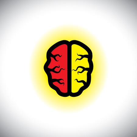 whiz: concept icon of creative, intelligent brain.
