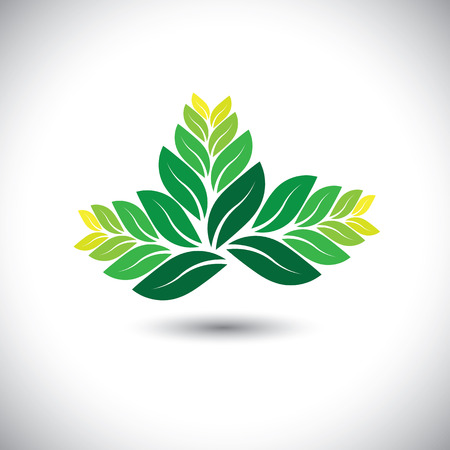 fern leaf: decorative, beautiful, bright fern leaves - eco concept vector. This graphic illustration also represents nature, natural elements, business icon, summer and spring elements, natural designs