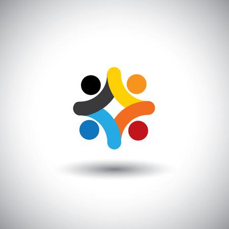 verlobung: Konzept der Community Einheit, Solidarität und Menschen-Ikonen Illustration