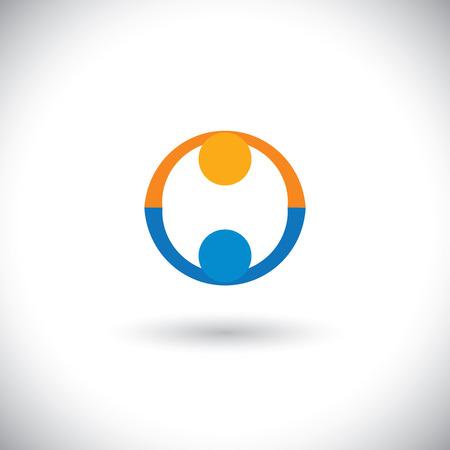 concept de peuple icônes salutation, partenariat, affaire. Vecteurs