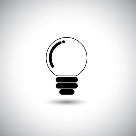 concept icon of idea light bulb in simple design.  Vector