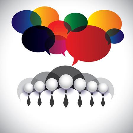 ホワイト カラーの従業員コミュニケーション、相互作用  イラスト・ベクター素材