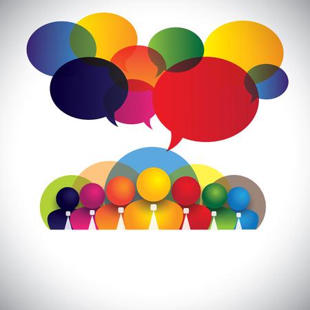 多人種的な幹部社員ホワイト カラー  イラスト・ベクター素材