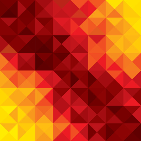 abstract colorful background of orange, red geometric shapes of polygons, triangles, rhombus, etc Vector