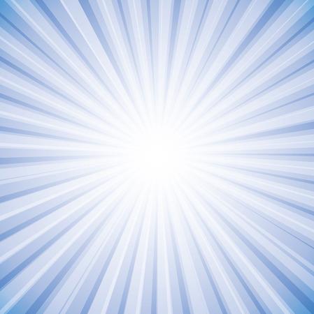 背景グラフィックの空に明るい白の太陽光線。