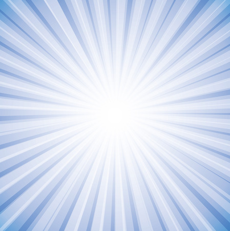 Sun rays in bright white on sky in background graphic.