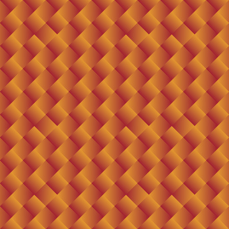 seamless background of bright orange yellow geometric shapes - vector graphic.  Vector