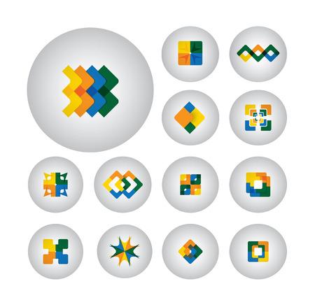 business symbols , design elements, flat icons - graphic