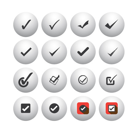 tick mark or right sign icons collection set Vector