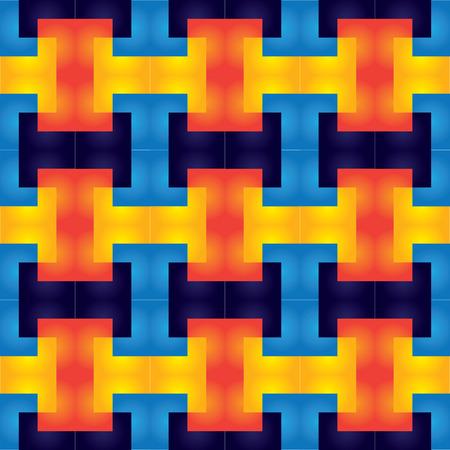 rectangulo: geométrico brillante colorido patrón repetitivo sin fisuras de los rectángulos - vector de fondo con luces de neón tipo de resplandor de luz
