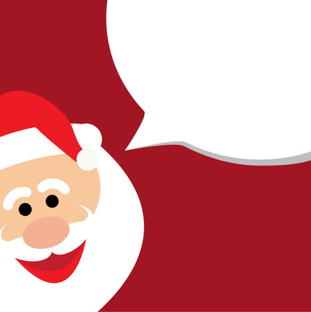 announcing: happy funny santa claus announcing christmas sale -  vector graphic. Illustration