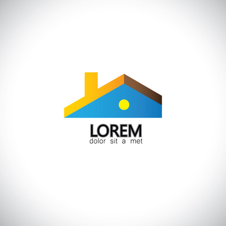 house home or residential building - concept vector graphic. This icon also represents real-estate, property market, etc