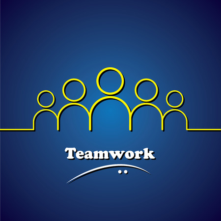 involvement: team, teamwork, leader & leadership vector concept graphic. This icon also represents unity, solidarity, involvement, integrity