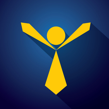 glee: vector icon of an compassionate, empathetic person ready to embrace and hug. This also represents happy employee, excited student, winning athlete, person celebrating victory
