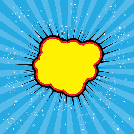 pop art text bubble cloud, illustration in vector format different trendy colors. this also represents a big bang, thunder, emphatic explosion, roaring voice, scream, booming vehicle, big sound  イラスト・ベクター素材