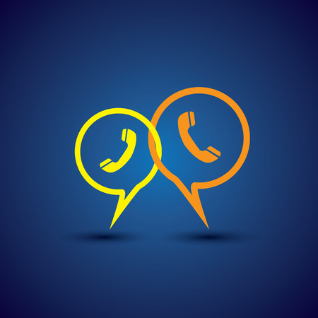 mutual help: online phone support & phone chat - concept vector line icon. This chat or talk symbol with receiver symbol also represents  business communication, voice support, customer interaction