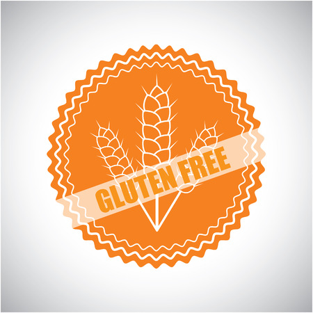 gluten: vector outline icon for gluten free badges and emblems in line style